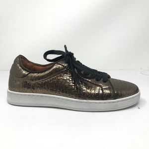 NEW Frye Alexis Metallic Snake Embossed Sneaker